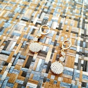 Jewelry - Round Gold Filled Micropave Earrings